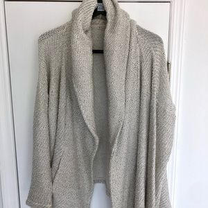 Johnny Was Knit Hooded Cardigan Small Gray Cozy
